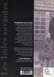Tibet (1846-1952) ; Les Missionnaires De L'Impossible - 4ème de couverture - Format classique