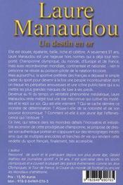 Laure Manaudou ; Un Destin En Or - 4ème de couverture - Format classique