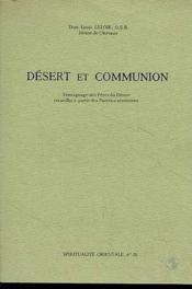 Désert et communion - Couverture - Format classique