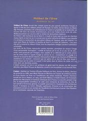 Philibert De L'Orme - 4ème de couverture - Format classique