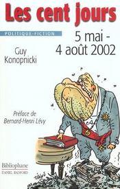 Cent jours 5 mai / 4 aout 2002 - Intérieur - Format classique