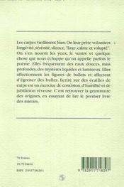 Ecrits sur une ecaille de carpe - 4ème de couverture - Format classique