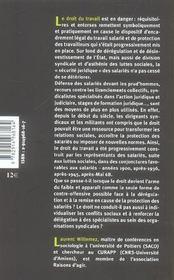 Le Droit Du Travail En Danger ; Une Ressource Collective Pour Des Combats Individuels - 4ème de couverture - Format classique