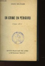 Un Crime En Perigord - Couverture - Format classique
