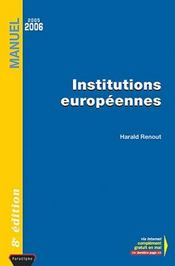 Vente  Institutions Europeennes  - Harald Renout