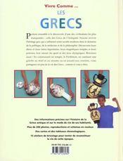 Vivre comme les Grecs - 4ème de couverture - Format classique