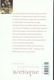 Contes Populaires De Toutes Les Bretagne - 4ème de couverture - Format classique