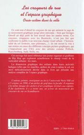 Les Crayeurs De Rue Et L'Espace Graphique ; Craie-Action Dans La Ville - 4ème de couverture - Format classique