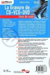 La Gravure De Cd-Vcd-Dvd - 4ème de couverture - Format classique