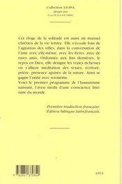 La vie solitaire ; 1346-1366 - 4ème de couverture - Format classique