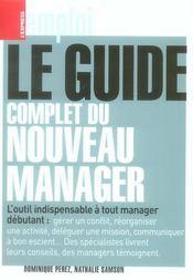 Le guide complet du nouveau manager - Intérieur - Format classique