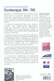 Sur Les Chemins De La Liberation. Dunkerque 1944-1945 - 4ème de couverture - Format classique