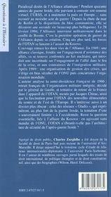 Histoire de l'OTAN - 4ème de couverture - Format classique