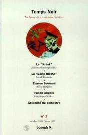 Revue Temps Noir N1 - Couverture - Format classique