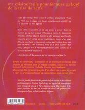 Ma Cuisine Facile Pour Femmes Au Bord De La Crise De Nerfs - 4ème de couverture - Format classique