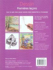 Dessin ; premières leçons - 4ème de couverture - Format classique