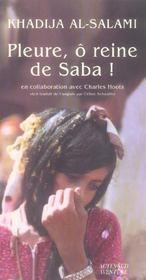 Pleure, O Reine De Saba ! - Intérieur - Format classique
