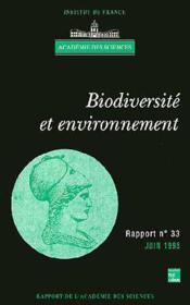 Biodiversite et environnement (rapport de l'academie des sciences n.33) - Couverture - Format classique