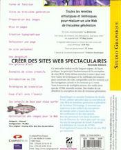 Www.Killersites.Com Creer Des Sites Web Spectaculaires - 4ème de couverture - Format classique