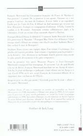 Mitterrand, Une Affaire D'Amitie - 4ème de couverture - Format classique
