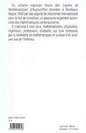 Lecons de maths d'aujourd'hui t.1 - 4ème de couverture - Format classique