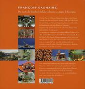 Francois gagnaire: du mot à la bouche ; balade culinaire en terre d'auvergne - 4ème de couverture - Format classique
