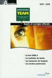 Concours Team 2007-2008 - Intérieur - Format classique