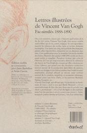 Lettres illustrées de Vincent Van Gogh ; fac-similés 1888-1890 ; coffret - 4ème de couverture - Format classique