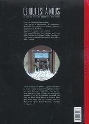 Ce qui est a nous ; première époque t.3 ; Hampton farms - 4ème de couverture - Format classique