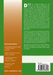 Rugby : evolution tactique et strategique ; les fondements d'une conception collective - 4ème de couverture - Format classique