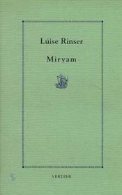 Miryam - Couverture - Format classique