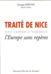 Traite de nice, texte compare et commente - Couverture - Format classique
