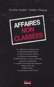 Affaires Non Classees - Intérieur - Format classique