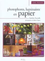 Photophores, luminaires en papier - Couverture - Format classique
