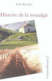Histoire de la nostalgie - Intérieur - Format classique