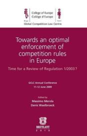 Vente livre :  Towards an optimal enforcement of compet  - Merola - Massimo - Waelb