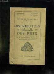 Distribution Solennelle Des Prix College Communal De Moissac. Annee Scolaire 1934 - 1935. - Couverture - Format classique