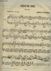 Chant Du Soir - Romance Pour Piano. - Couverture - Format classique