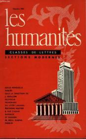 Les Humanites - Classe De Lettres Sections Modernes - Octobre 1961 - Couverture - Format classique