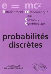 Probabilites Discretes - Intérieur - Format classique