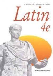 Latin 4eme Manuel - Couverture - Format classique