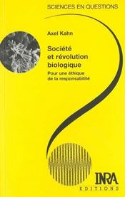 Société et révolution biologique ; pour une éthique de la responsabilité - Intérieur - Format classique