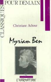Myriam Ben - Couverture - Format classique