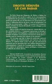 Droits dérivés ; le cas Babar - 4ème de couverture - Format classique