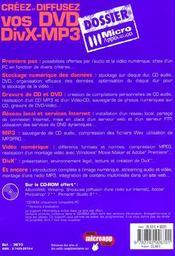 Creez Et Diffusez Vos Dvd Divx-Mp3 - 4ème de couverture - Format classique
