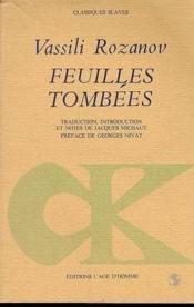 Feuilles Tombees - Couverture - Format classique