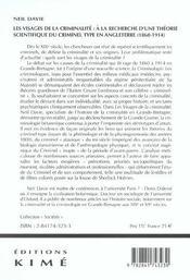Visages De La Criminalite (Les) - 4ème de couverture - Format classique