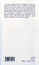 Skinner - 4ème de couverture - Format classique