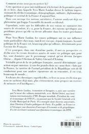 Jacques Chirac Et Le Declin Francais - 4ème de couverture - Format classique