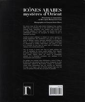 Icônes arabes, mystères d'orient - 4ème de couverture - Format classique